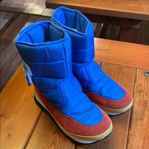 Kids rubber duck boots size 1